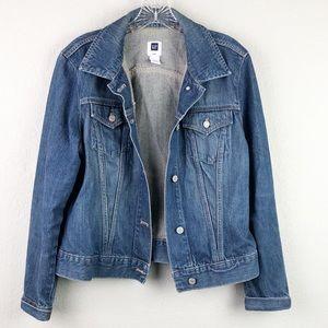 Gap 100% Cotton Jeans Jacket Sz L